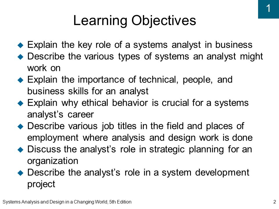 Chapter  The World Of The Information Systems Analyst  Ppt Video