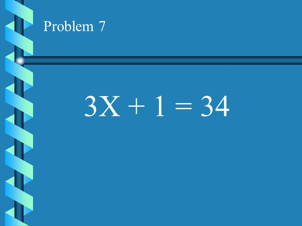 how to solve 3x 15