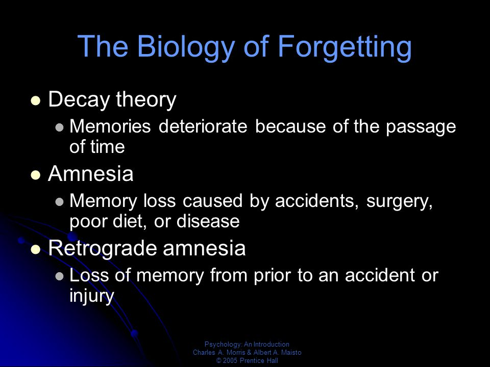 Decay Memory Memory Chapter ppt vid...