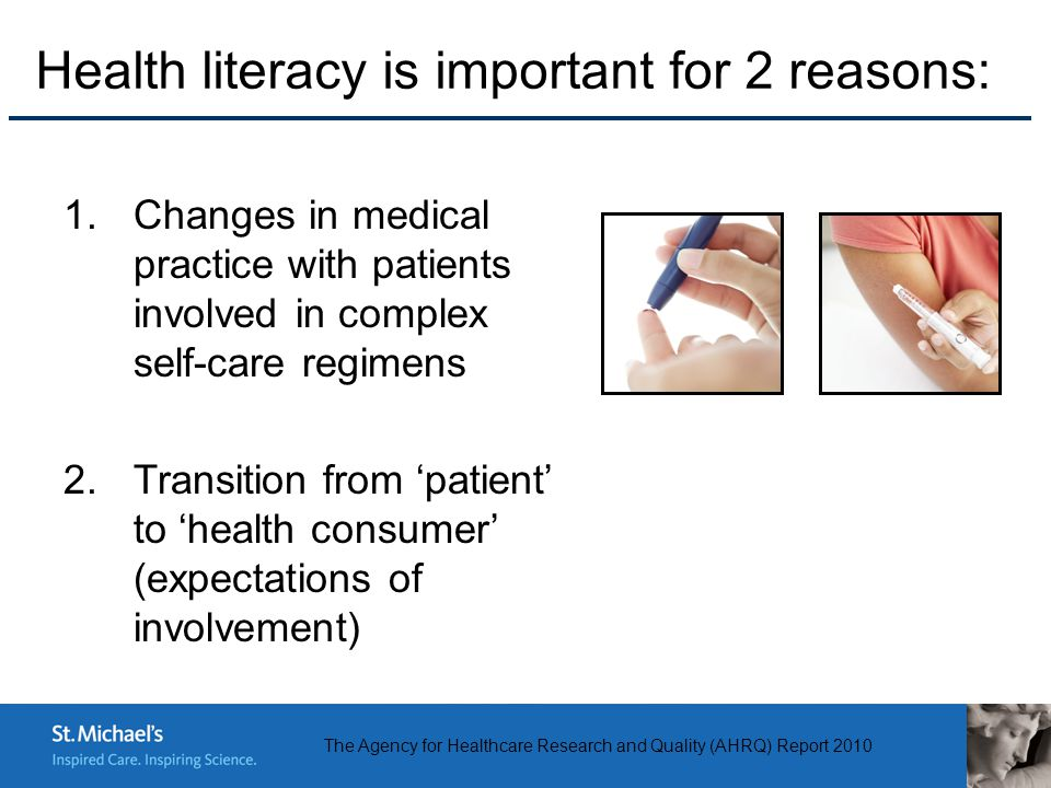 health literacy and education Health literacy is the degree to which individuals have the capacity to obtain, process, and understand basic health information and services needed to.