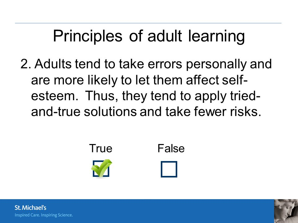 application of adult learning theory Designing elearning courses for adults requires a sound understanding of why and how adults learn by understanding and applying adult learning principles, instructional designers can create the right engagement quotient in elearning courses in this blog, i share an overview of adult learning .