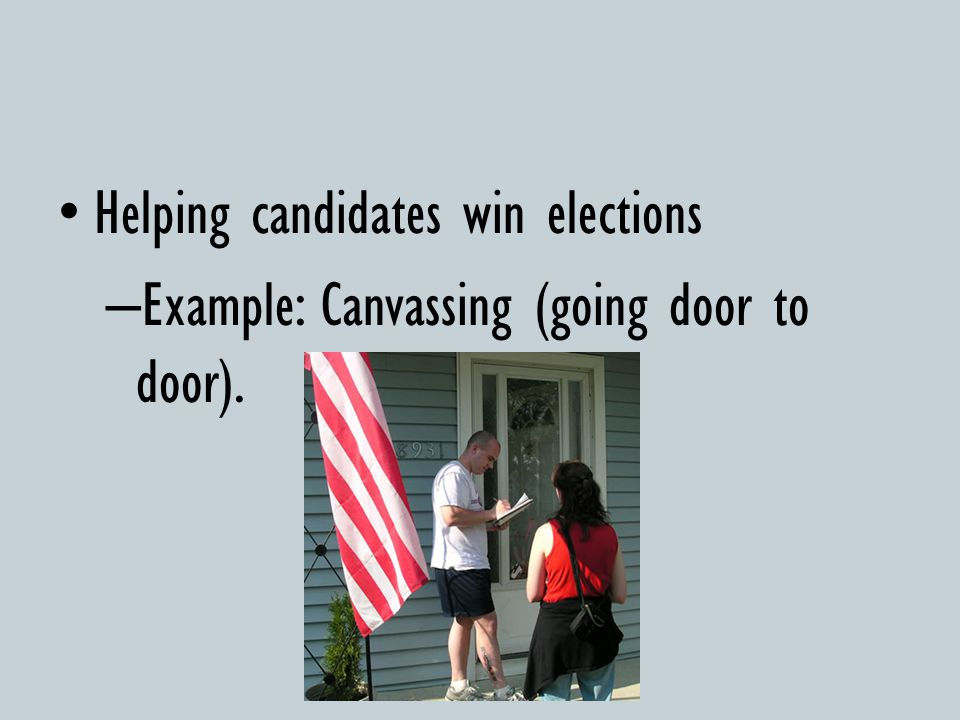 Helping candidates win elections