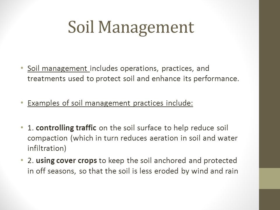 Introduction to soil types structure and pasture management ppt 13 soil management pronofoot35fo Gallery