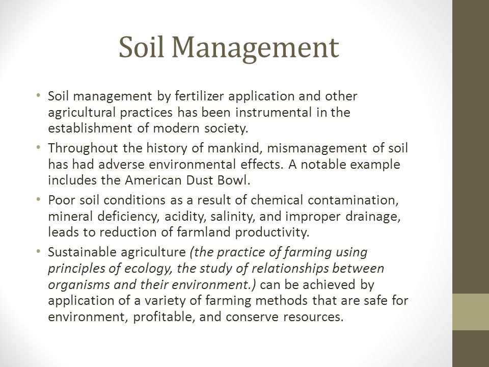 Introduction to soil types structure and pasture management ppt soil management pronofoot35fo Gallery