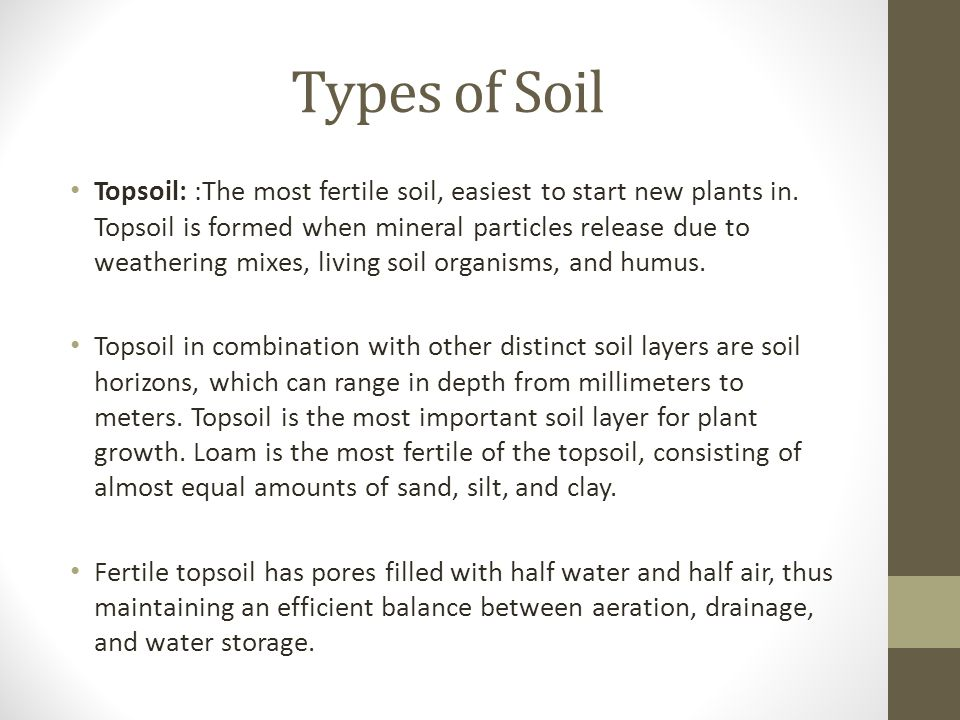 Introduction to soil types structure and pasture for What is important to know about soil layers