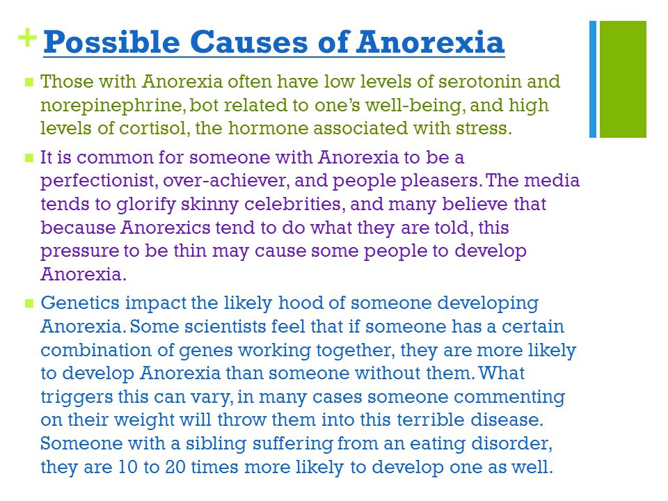 Triggers of anorexia
