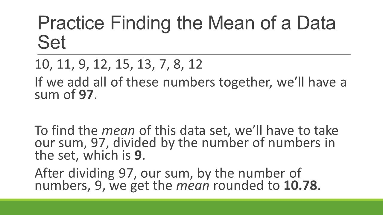 how to get the median of a set of numbers