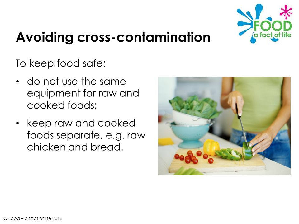 how to avoid cross contamination of food