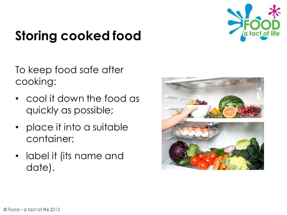 PowerPoint 262 Food safety © Food – a fact of life ppt ...