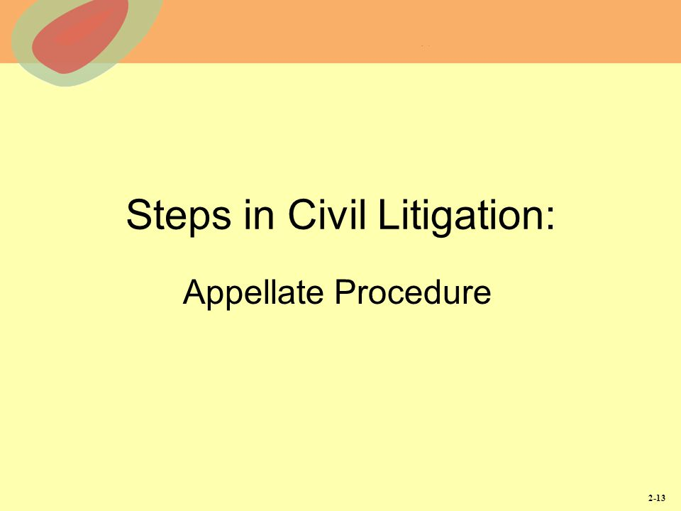Steps in Civil Litigation:
