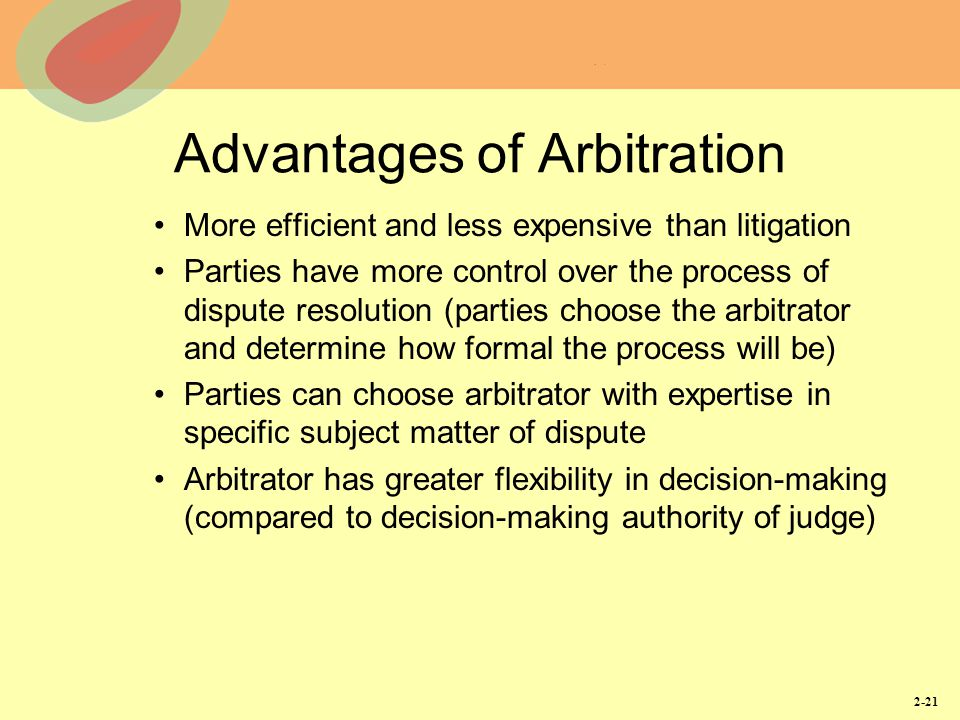 advantages and disadvantages of litigation Describes the arbitration process vs the litigation process, with points of differences and similarities.
