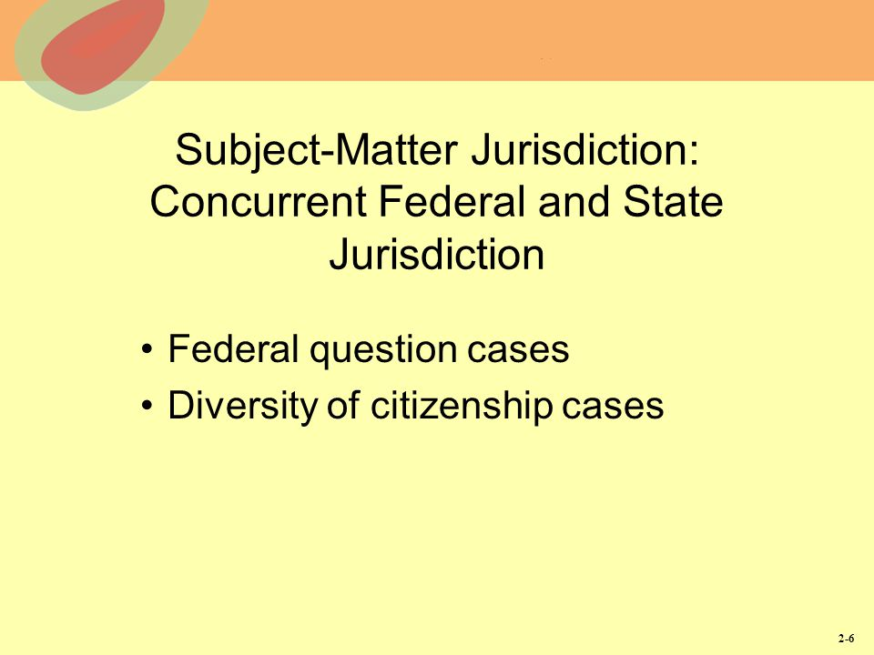subject matter jurisdiction When you challenge subject jurisdiction, it is to be shown and proved before court proceedsperiod, but not if you don't make it an issue, you lose you must move your court.
