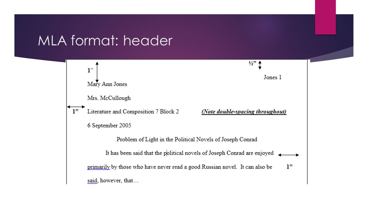 header for mla format How to format an mla-style paper  number the pages in the top right corner of  the paper's header area, beginning with the first page of text.