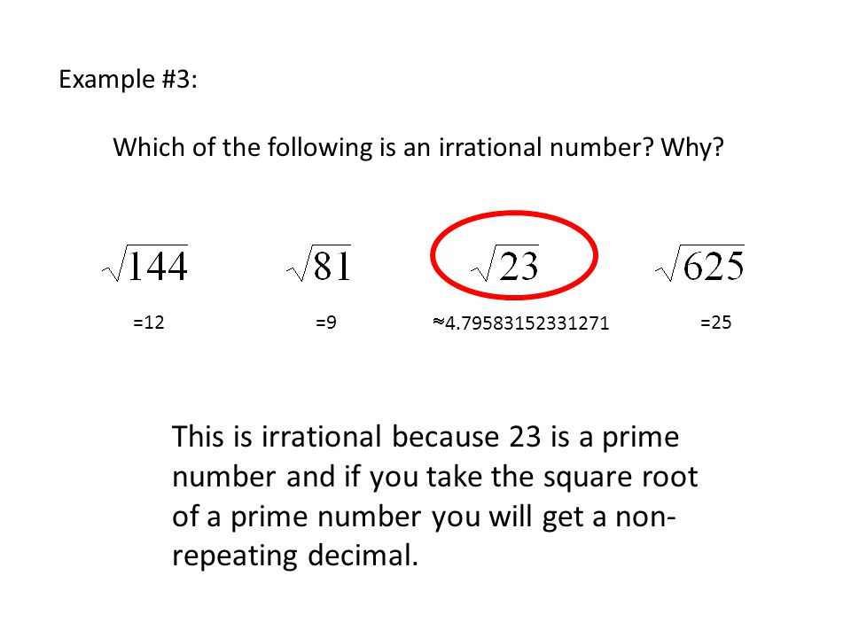 Which of the following is an irrational number Why