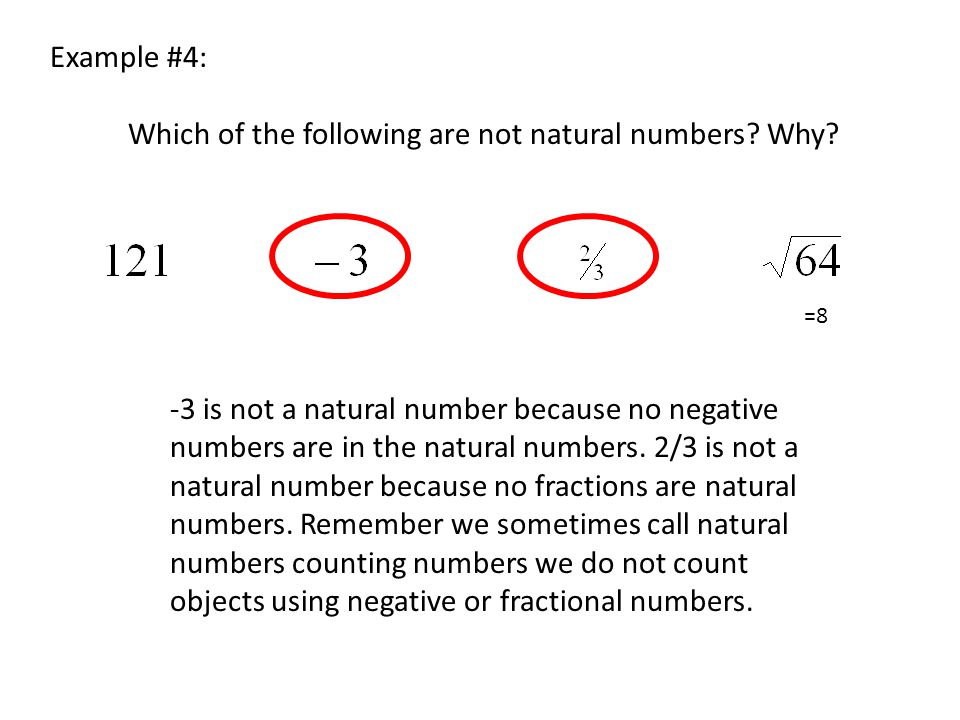 Which of the following are not natural numbers Why