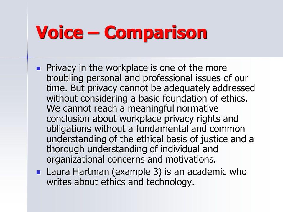 Voice – Comparison