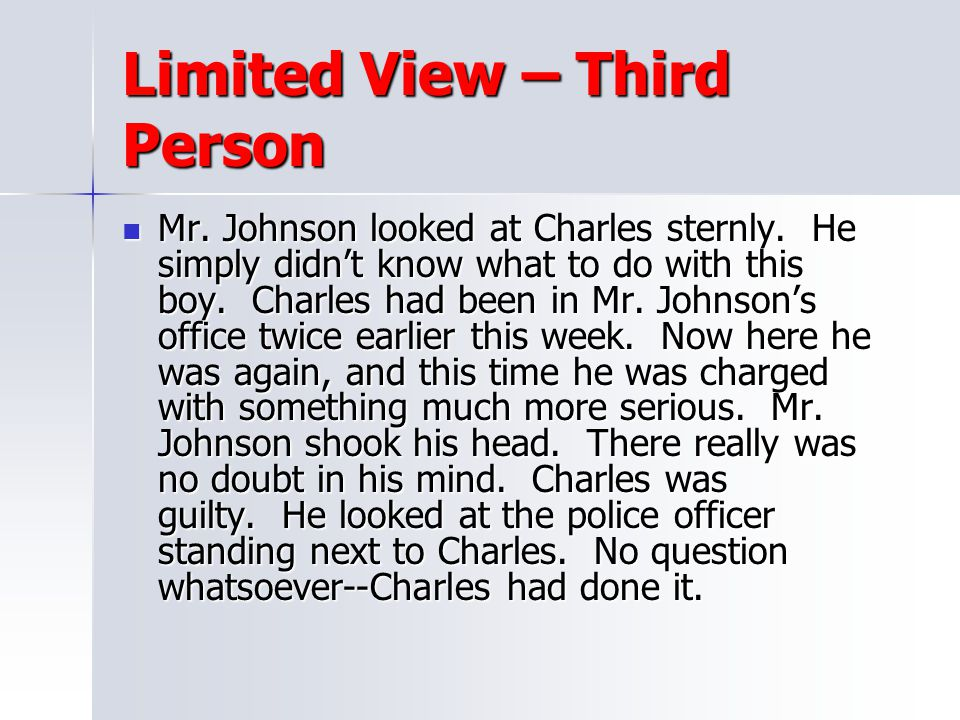 Limited View – Third Person