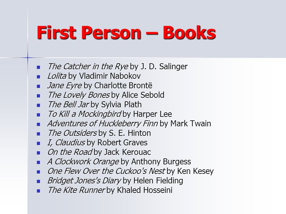 First Person – Books The Catcher in the Rye by J. D. Salinger