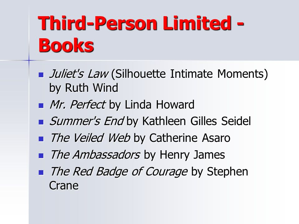 Third-Person Limited - Books