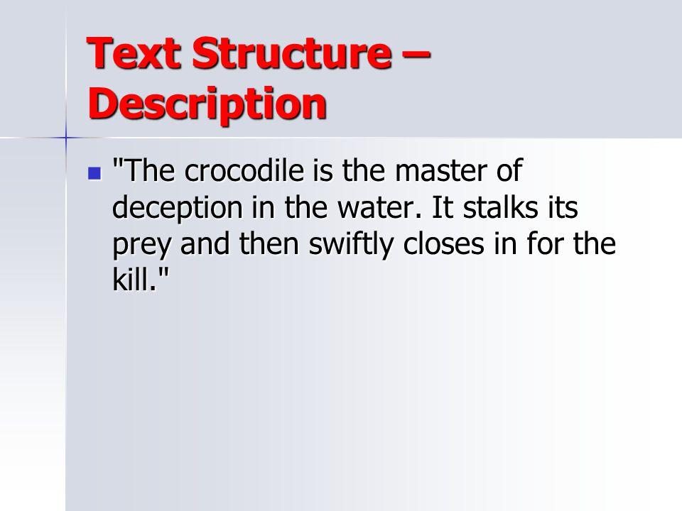 Text Structure – Description