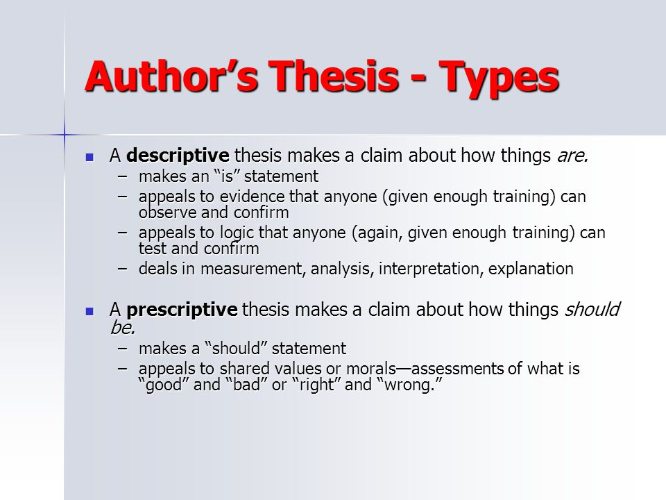 Author's Thesis - Types