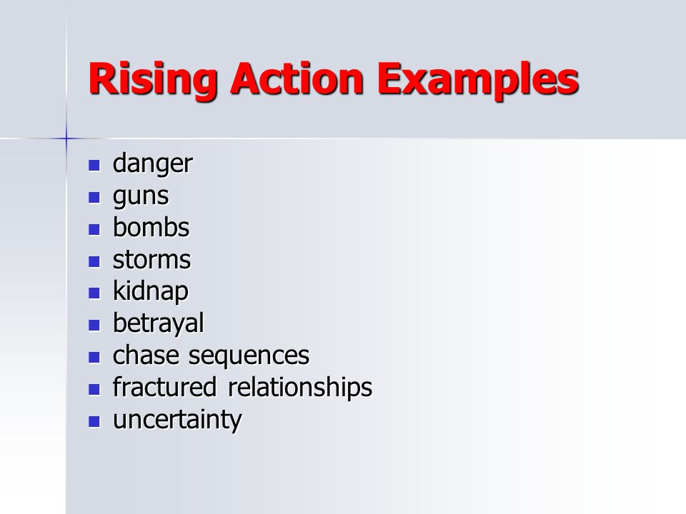 Rising Action Examples