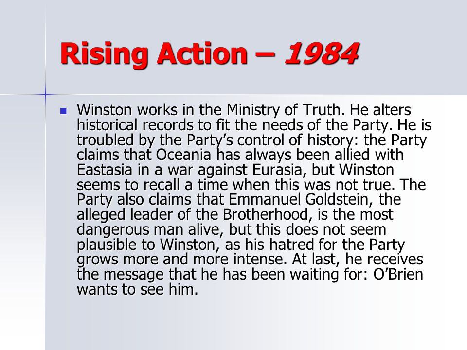 Rising Action – 1984