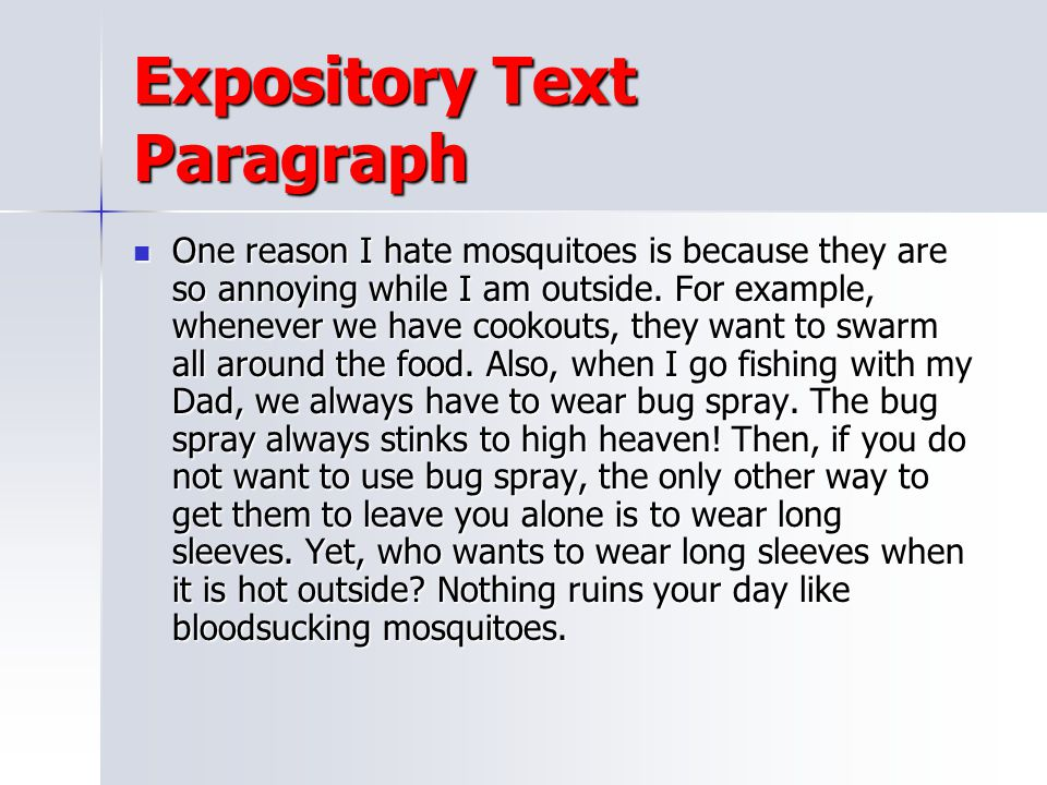 Expository Text Paragraph