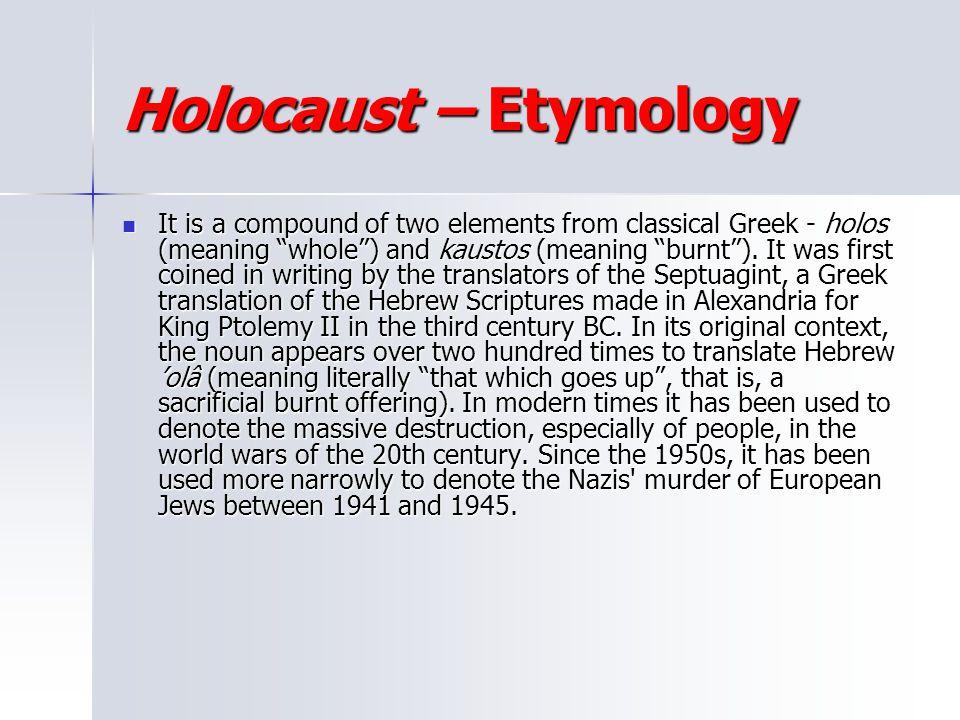 Holocaust – Etymology