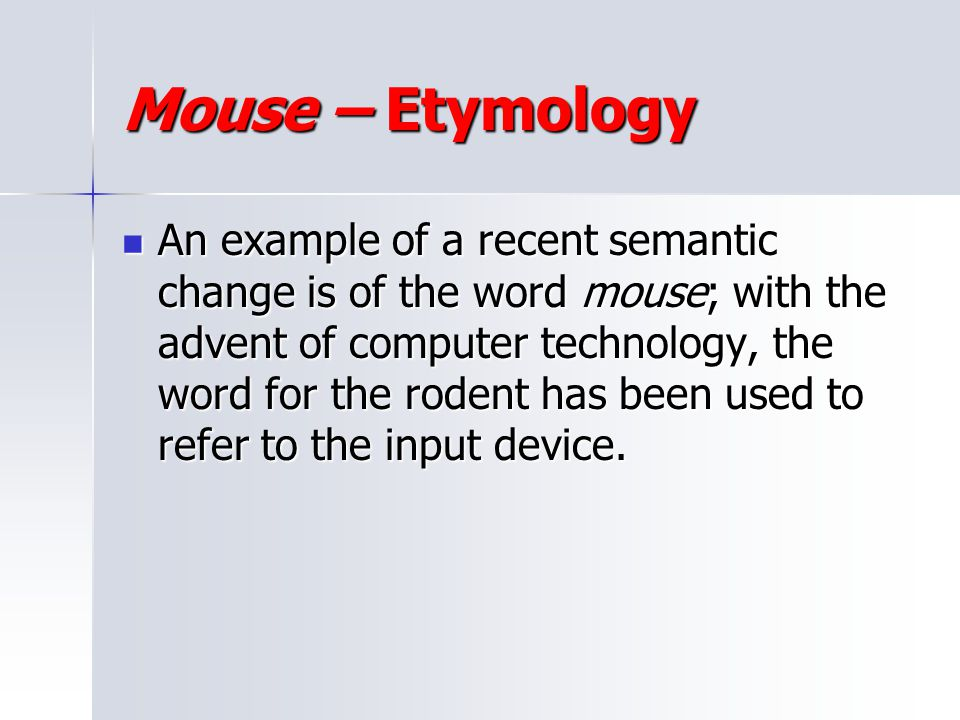 Mouse – Etymology