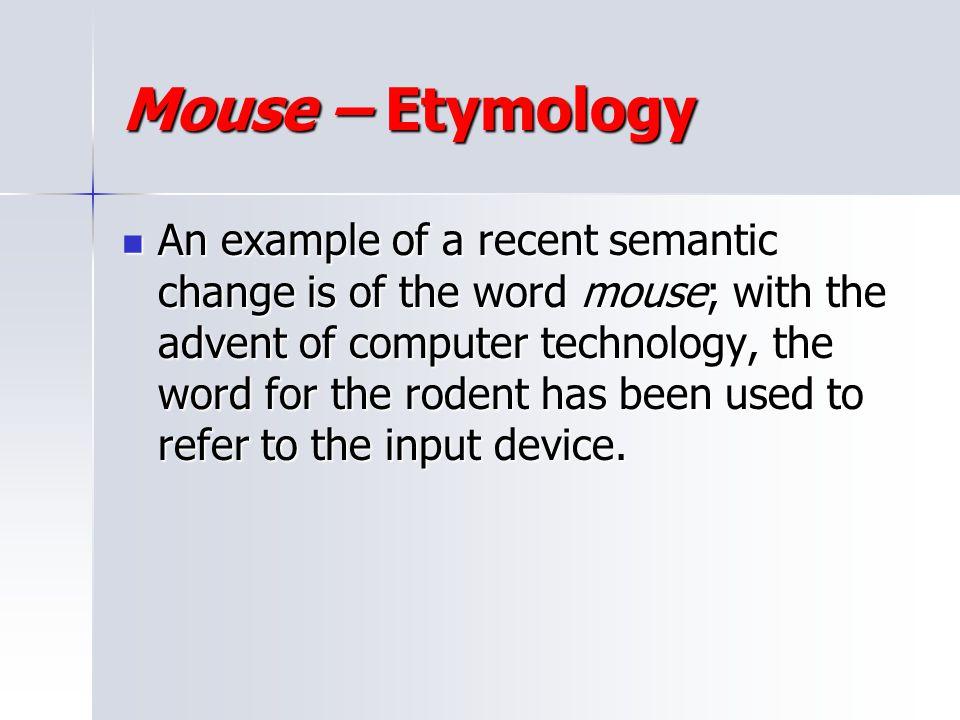 Mouse – Etymology