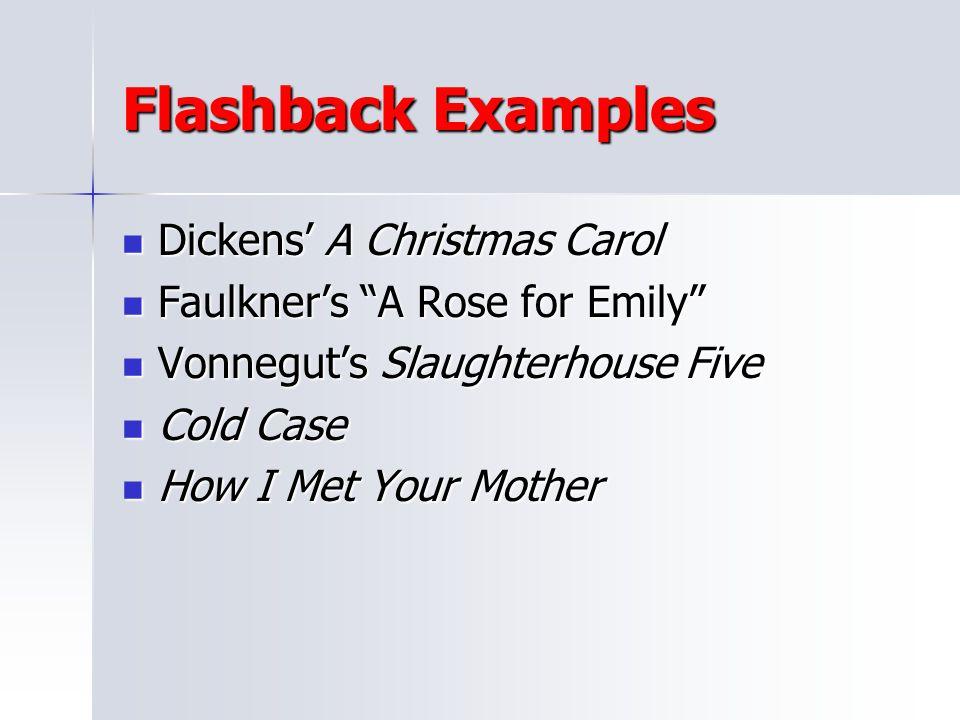 Flashback Examples Dickens' A Christmas Carol