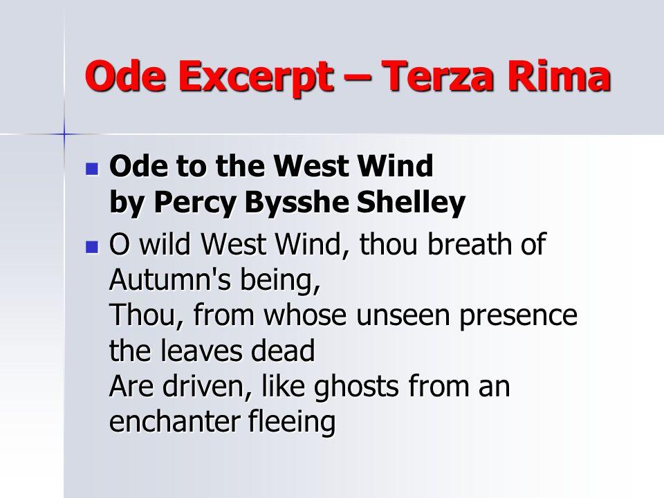 Ode Excerpt – Terza Rima