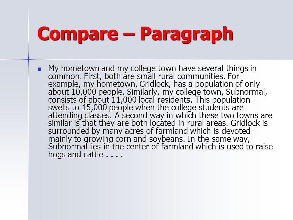 Compare – Paragraph
