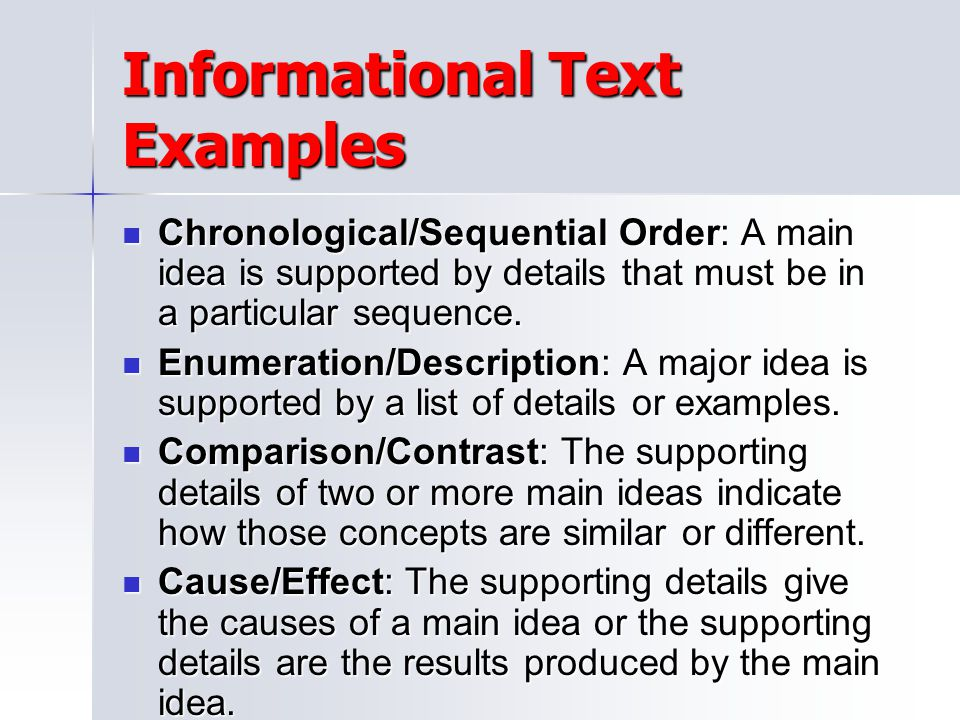 Informational Text Examples