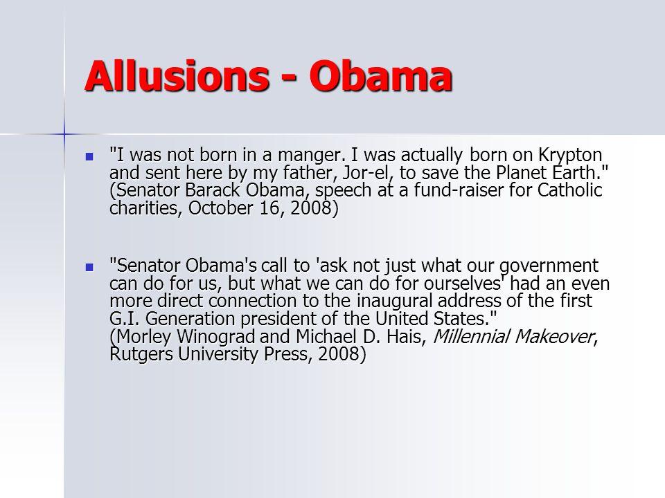 Allusions - Obama