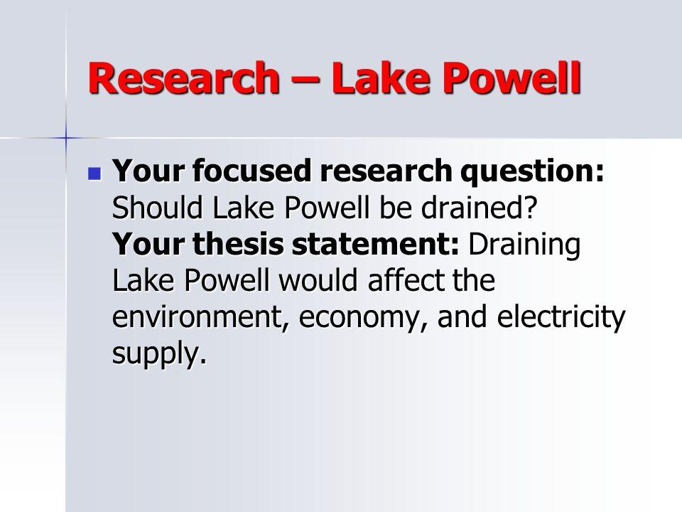 Research – Lake Powell