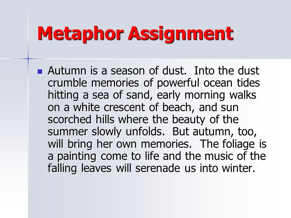 Metaphor Assignment