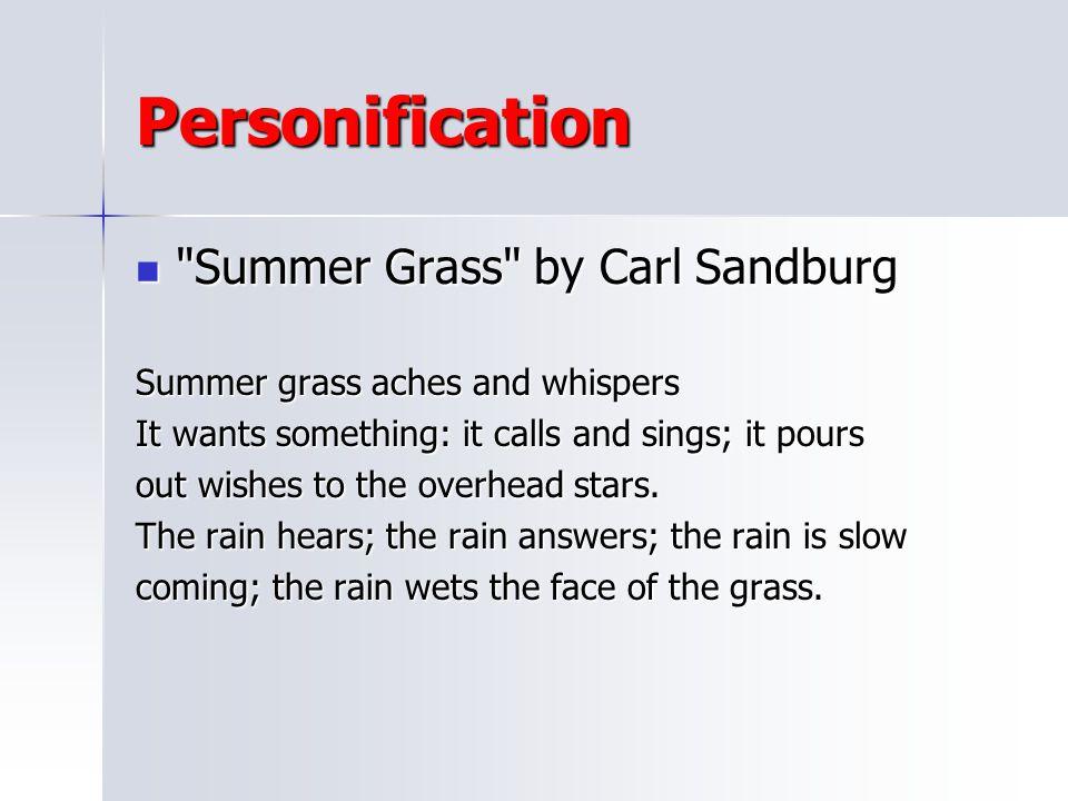 Personification Summer Grass by Carl Sandburg