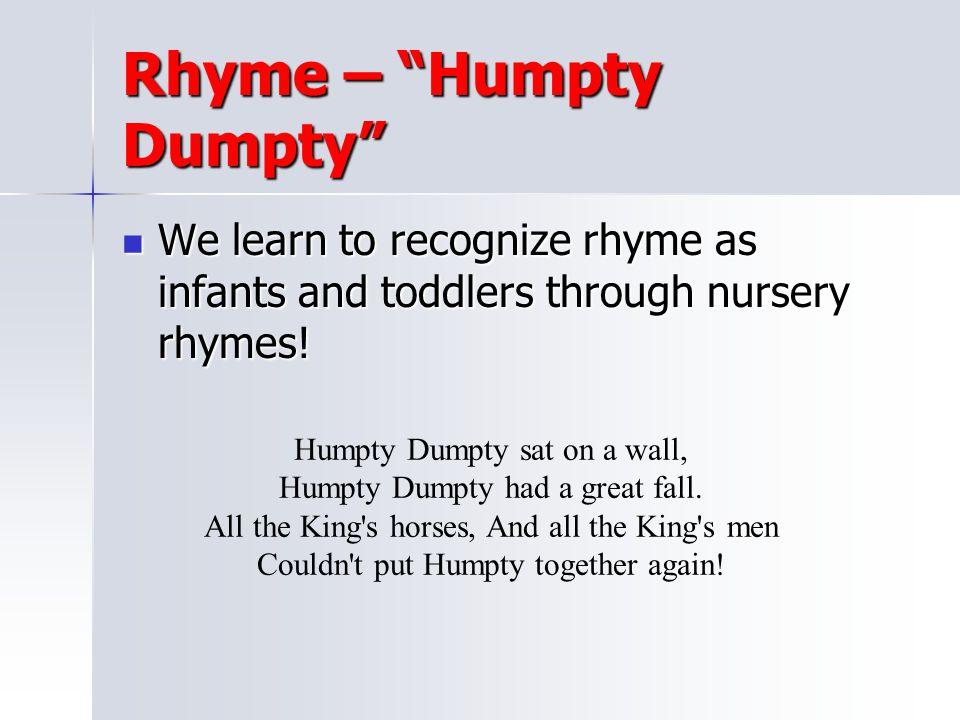 Rhyme – Humpty Dumpty