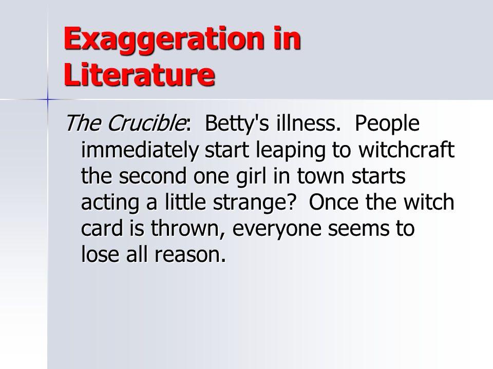 Exaggeration in Literature