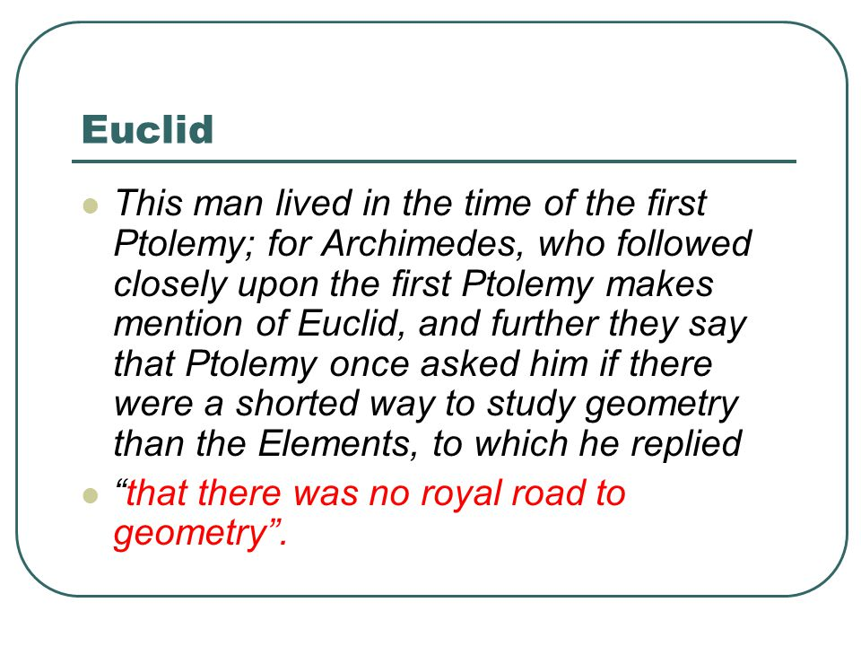 an analysis of the elements of euclid With respect to the proofs in the elements in particular, the received view is that euclid's reliance on geometric diagrams undermines his efforts to develop a gap- free after surveying the history behind the received view, this essay provides a contrary analysis by introducing a formal account of euclid's proofs, termed eu.