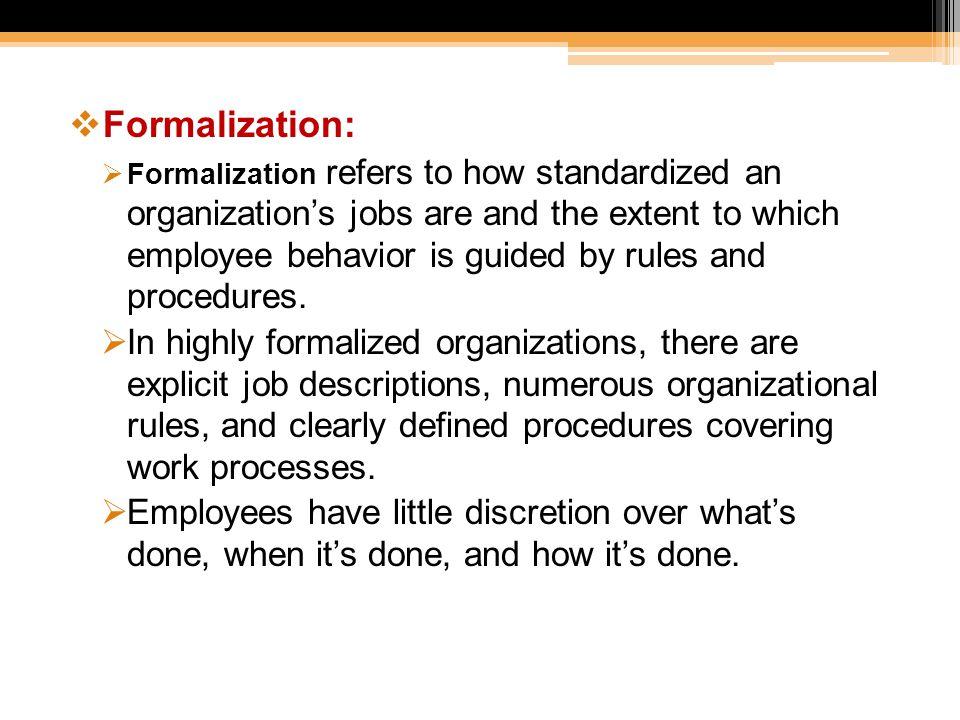 Formalization: