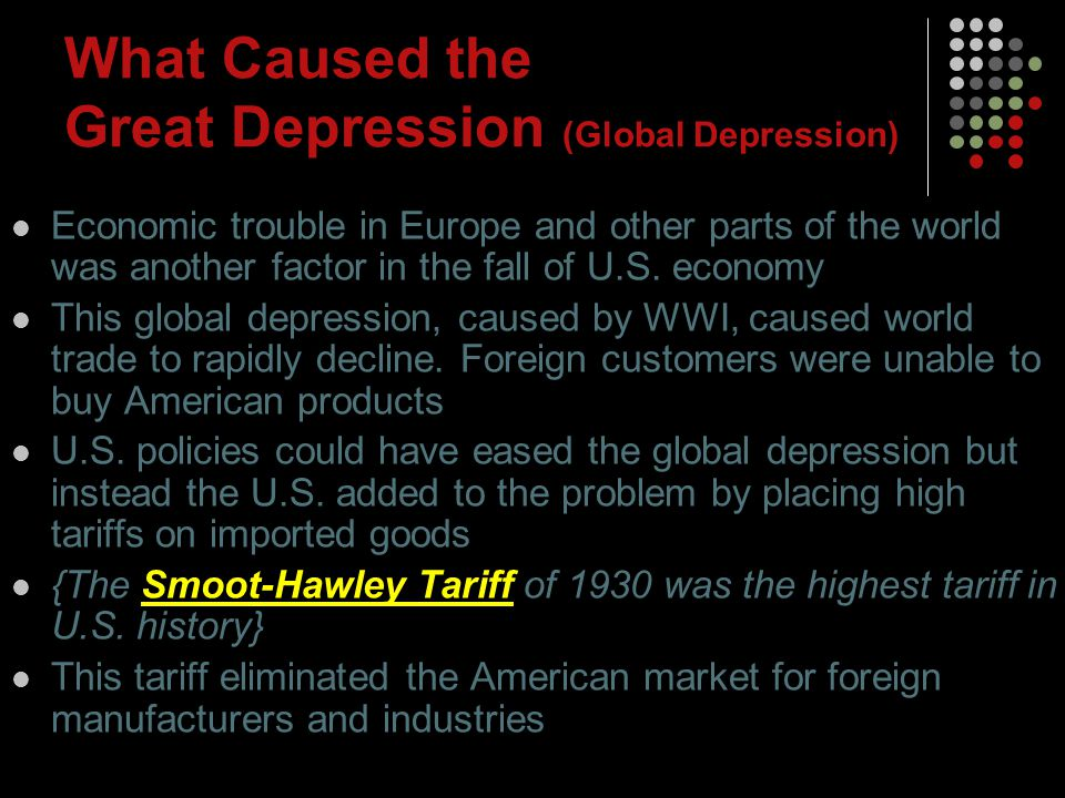 What Caused the Great Depression (Global Depression)