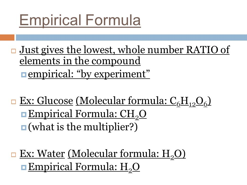 water and empirical formula How do we go from empirical formula to molecular formula  i've always seen  water molecules drawn wit the hydrogen atoms at the same angle what is that.