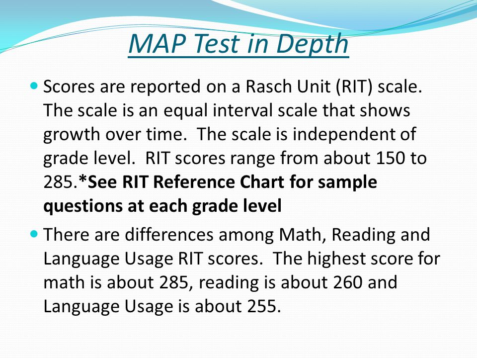 Measures of Academic Progress (MAP) Testing and Reports - ppt download