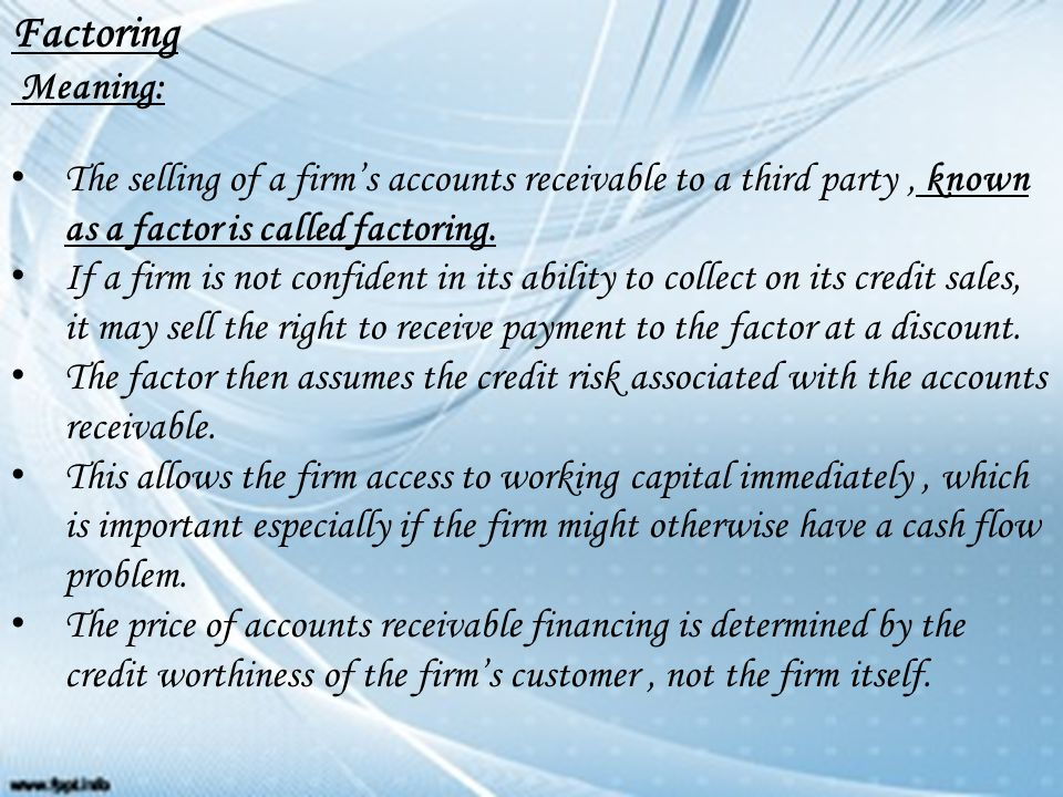 what factors determine a firm's financing The factors that can potentially determine a firm's financing choice are embedded that these are the actual factors determining the firm's financing.