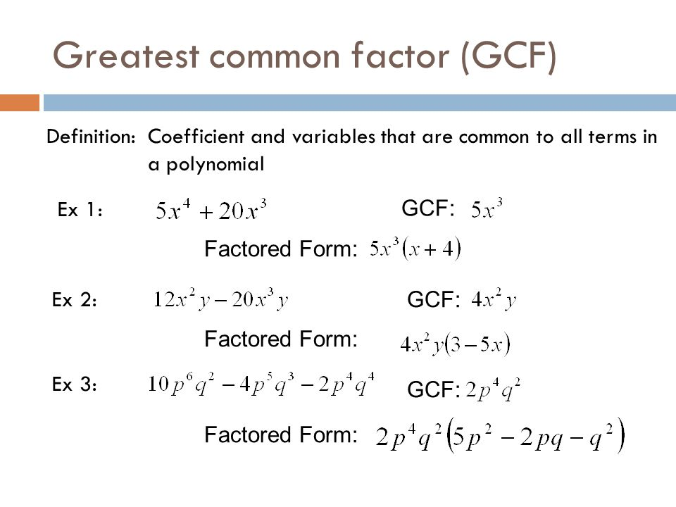 Factoring GCF's, differences of squares, perfect squares, and ...