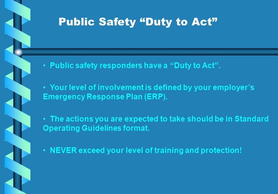 Public Safety Duty to Act