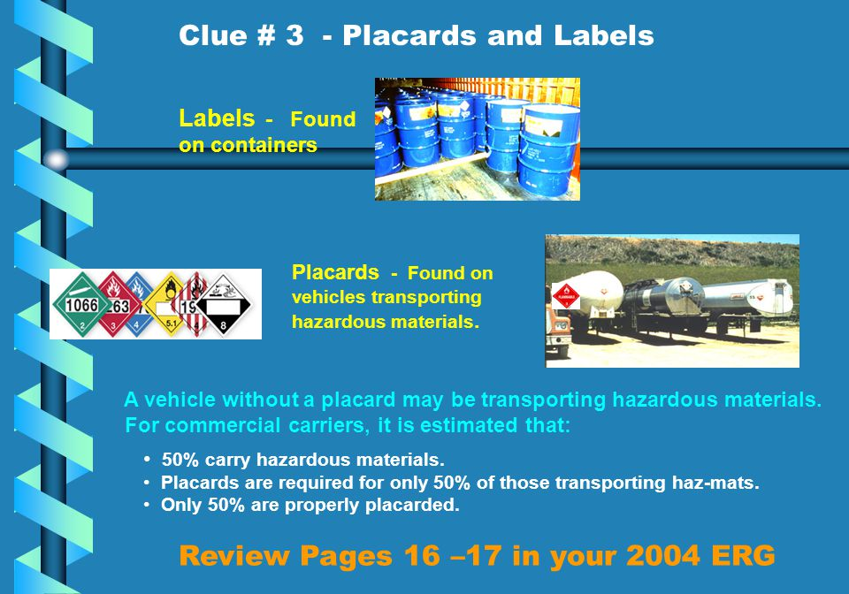 Review Pages 16 –17 in your 2004 ERG